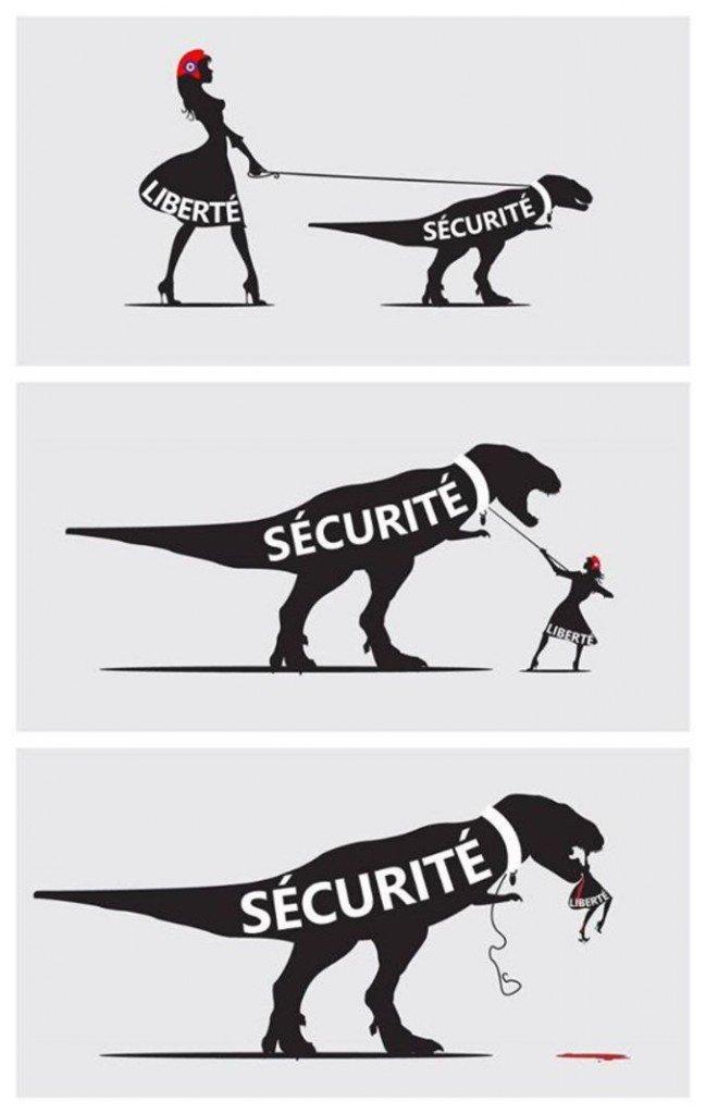 sécurité et liberté - sécurité contre liberté
